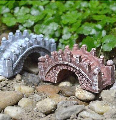 FD1520 Micro Landscape Stone Bridge Ornament Scenery Bonsai DIY Garden @Brown