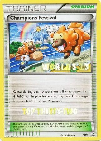 Champions Festival Top Thirty-Two Promotional Near Mint Pokemon - BW95