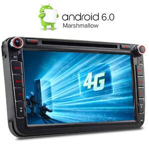 4g 8 android 6 0 dvd gps sat nav for vw passat golf mk5. Black Bedroom Furniture Sets. Home Design Ideas