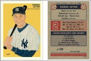 Derek-Jeter-HOF-NY-Yankees-Limited-Edition-Art-Baseball-Card-ACEO-1-100