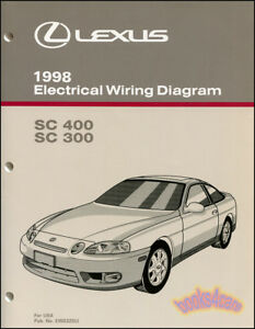 shop manual lexus sc400 sc300 electrical wiring diagram 1998 ...  ebay
