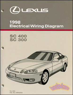 shop manual lexus sc400 sc300 electrical wiring diagram 1998 schematic sc 400 ebay Lexus 430 Wiring-Diagram