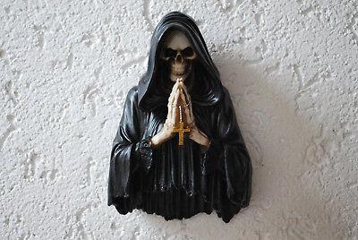 Humor Tod Led Wanddeko Wandrelif Grim Reaper Gothic Figur Deko Ein Kunststoffkoffer Ist FüR Die Sichere Lagerung Kompartimentiert