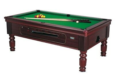 BRAND NEW 7ft X4 ROSETTA TRADITIONAL POOL TABLE SLATE BED COIN OP MATCH SIZE