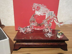 SWAROVSKI-NEW-Dragon-Socle-Dragon-with-Wooden-Stand-238202-H-8-2cm-L-15cm