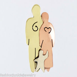 Mima-amp-Oly-Loving-Family-Pin-Kids-Children-NEW-Love-Family-of-3-One-Child