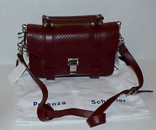 New Proenza Schouler Proenza Ps1 Tiny Leather Perforated dark Plum Bag $1690