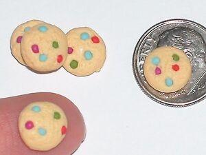 CompéTent 4pc Miniature Little Maison De Poupée Candy Pâques Noël Cookies Nourriture Apparence Attractive
