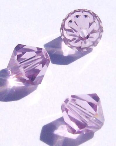 Swarovski bicone Austrian crystal beads faceted Light Amethyst choose size