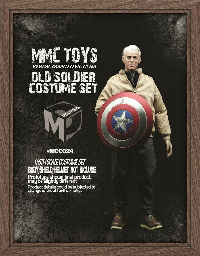 1 6 Captain America Old Ver. Clothes Model Set MCCTOYS MCC02 F 12'' Figure Body