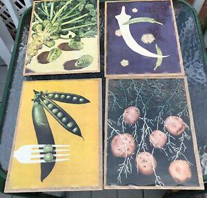 Vintage-Vegetable-Prints-set-of-4-Pop-Art-8-x-10