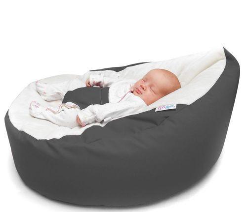 GaGa Pre-filled Baby Bean Bag Grey