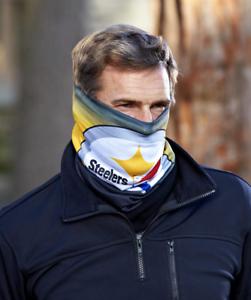 NFL-Fleece-Lined-Warm-Face-Scarf-Pittsburgh-Steelers-Football-Team-Fan-Gift