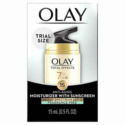 Olay Total Effects Anti-Aging Face Moisturizer with SPF 15 Fragrance-Free, Tr...