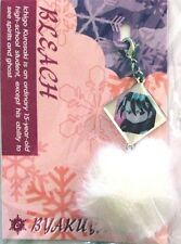 Bleach Byakuya Fastener w/ White Puff Metal Charm Anime Manga Game MINT
