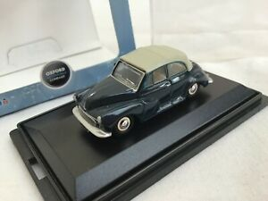 Oxford Diecast 1/76 Morris Minor Convertible     -  blue / grey       BOXED