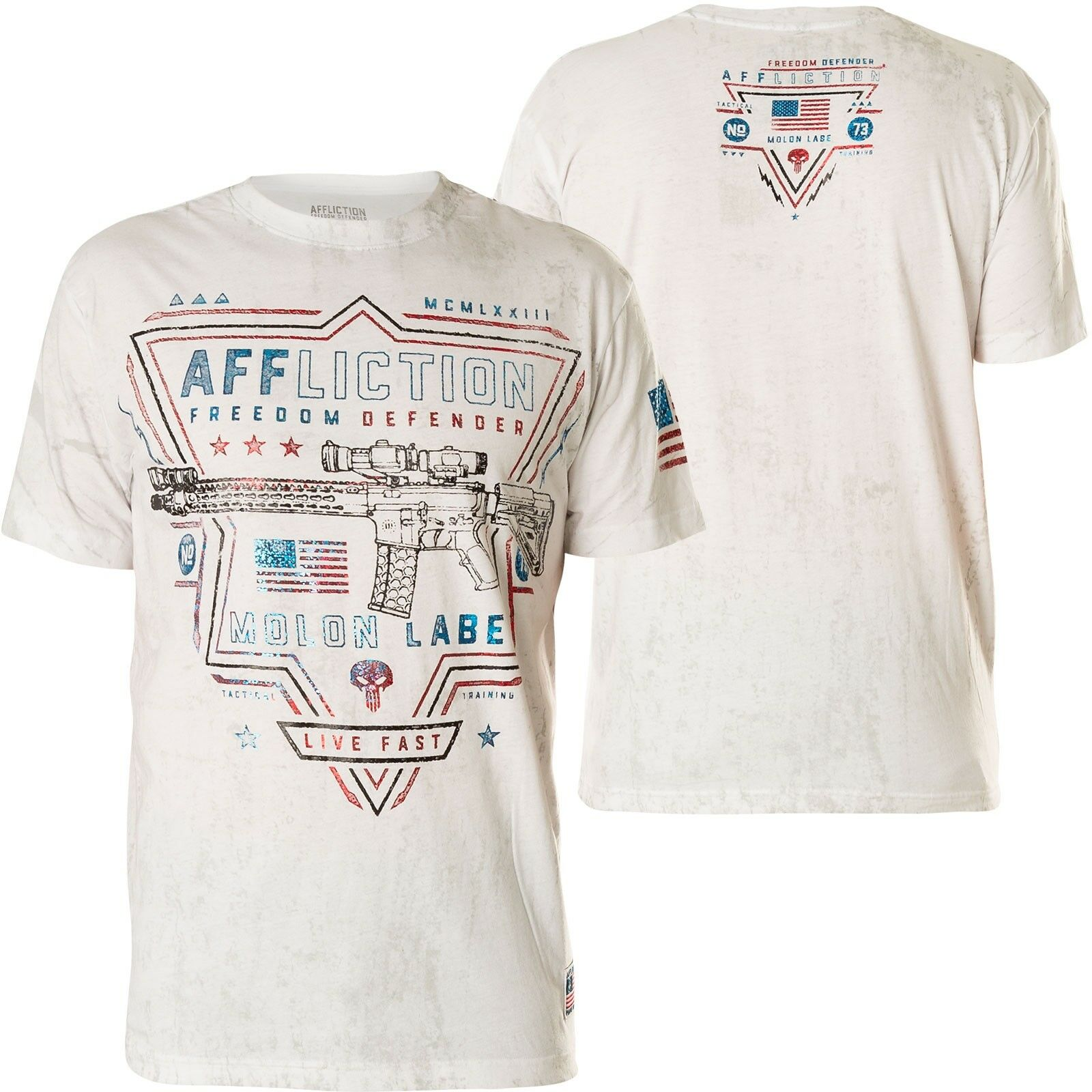 AFFLICTION T-Shirt Tactical Standard white T-Shirts