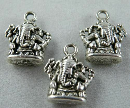 40pcs Tibetan Silver Nice Elephant Totem Charms 16.5x13mm zn61662