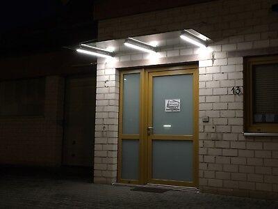 Diplomatisch Glasvordach Komplett-set V2a Led-beleuchtung Led-vordach Scheibe Matt 160x100cm In Vielen Stilen Heimwerker Baustoffe & Holz