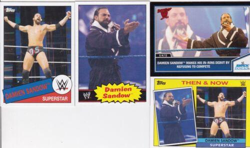 TOPPS WWE 4 DAMIEN SANDOW WRESTLING CARDS SEE SCAN