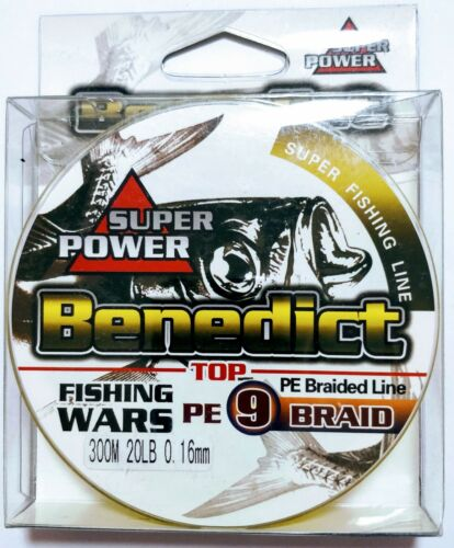 9-strand 300M 20LB Supercast strong braided PE fishing line