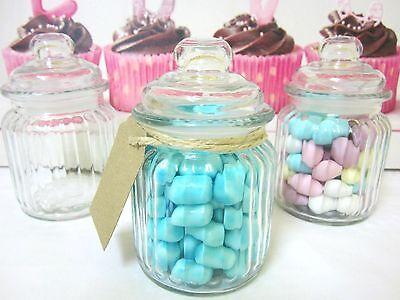 90x250ml Mini/Small Glass Jars+Lids-Wedding Favours/Bomboniere/Lolly Jars