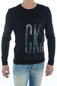 T Shirt Calvin Klein Homme Manche Longue S M L Xl Noir Ou Blanc