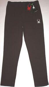 NWT Girls SPYDER Brown Centennial Fleece Pants Size S