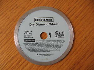 New Craftsman Dry Diamond Wheel Blade Type 1a 3 5 Quot Cm Dia1