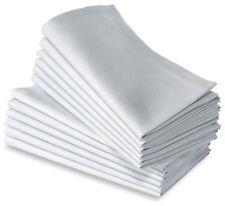12 100 COTTON RESTAURANT DINNER CLOTH LINEN WHITE 21X21 PREMIUM NAPKINS