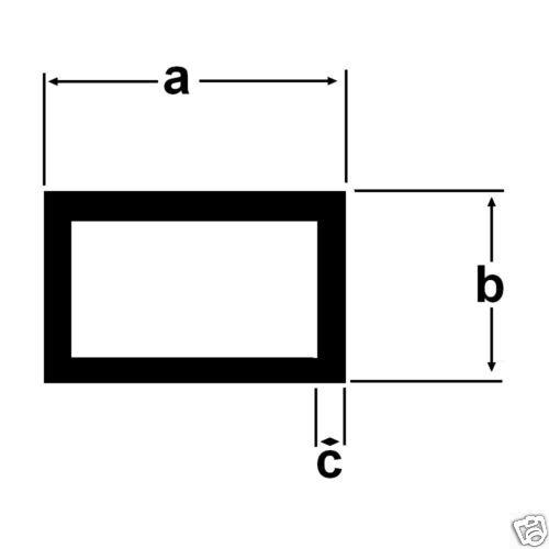 Alu Rechteckrohr 50x30x3mm Aluprofil 2 Meter 11,90€//m