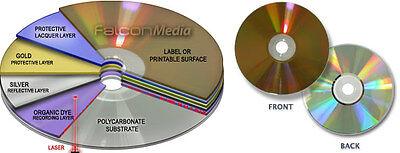 Gold CD-R Falcon GOLD 700 MB 24 ct Gold Beschichtung zum archivieren 100 Stück