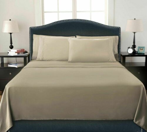 Premium Bamboo Bed Sheets Ultra Soft /& Cool Bedding Sheet Set Hypoallergenic