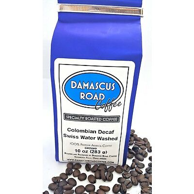Specialty Roasted Coffee, Swiss Water Washed Colombian Decaf, Whole Bean/ Ground