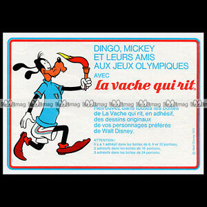 LA-VACHE-QUI-RIT-Fromage-DINGO-GOOFY-Walt-Disney-1972-Pub-Publicite-Ad-B586