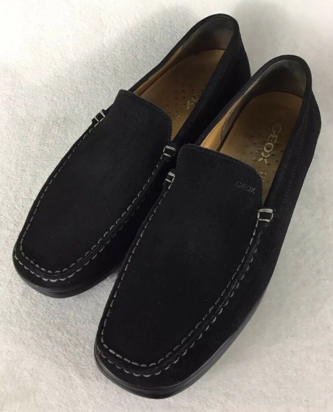 GEOX Respira Suede Leather Loafers Slip On Driving Moccasin Sz   12.5 US