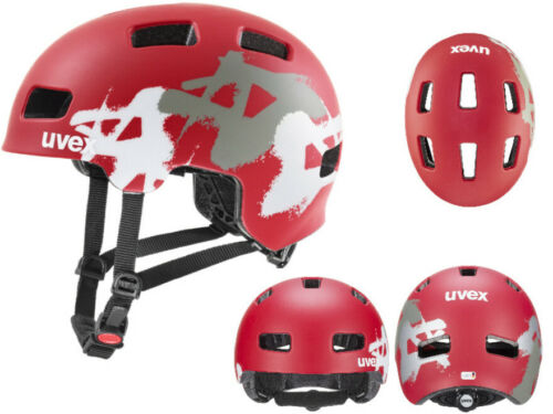 UVEX Kinder BMX Skate Fahrradhelm HLMT 4 CC red graffiti mat