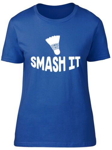 Smash It Badminton Womens Ladies Short Sleeve Tee T-Shirt