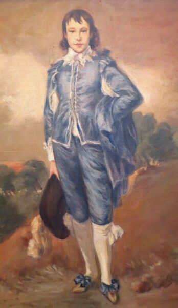 """""""l'enfant Bleu"""" Par Gainsborough Très Belle Reproduction Du Tableau à Tout Prix"""