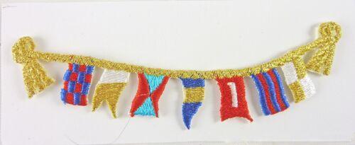 "4/"" long Dollhouse Miniature Festive Sailing Flags Garland"
