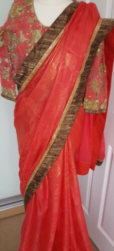 Bollywood Indiano pakistano Sari etnico Party Wear matrimonio 4477447700033 Saree Wear fwqpBfv