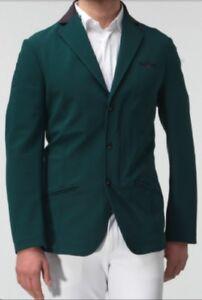 Cavalleria Toscana Green Men's Show Veste Avec Zip Taille 50-afficher Le Titre D'origine