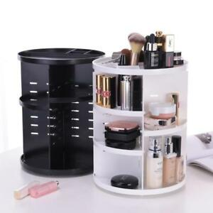 Details about 360 Degree Rotating Makeup Organizer Acrylic Cosmetic Display  Spinning Rack