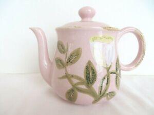 New-Vietri-Pottery-Teapot-Pink-White-Tulip
