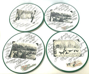 Christmas-Scenes-Artwork-Salad-Plates-Earthenware-Handcrafted-in-Italy