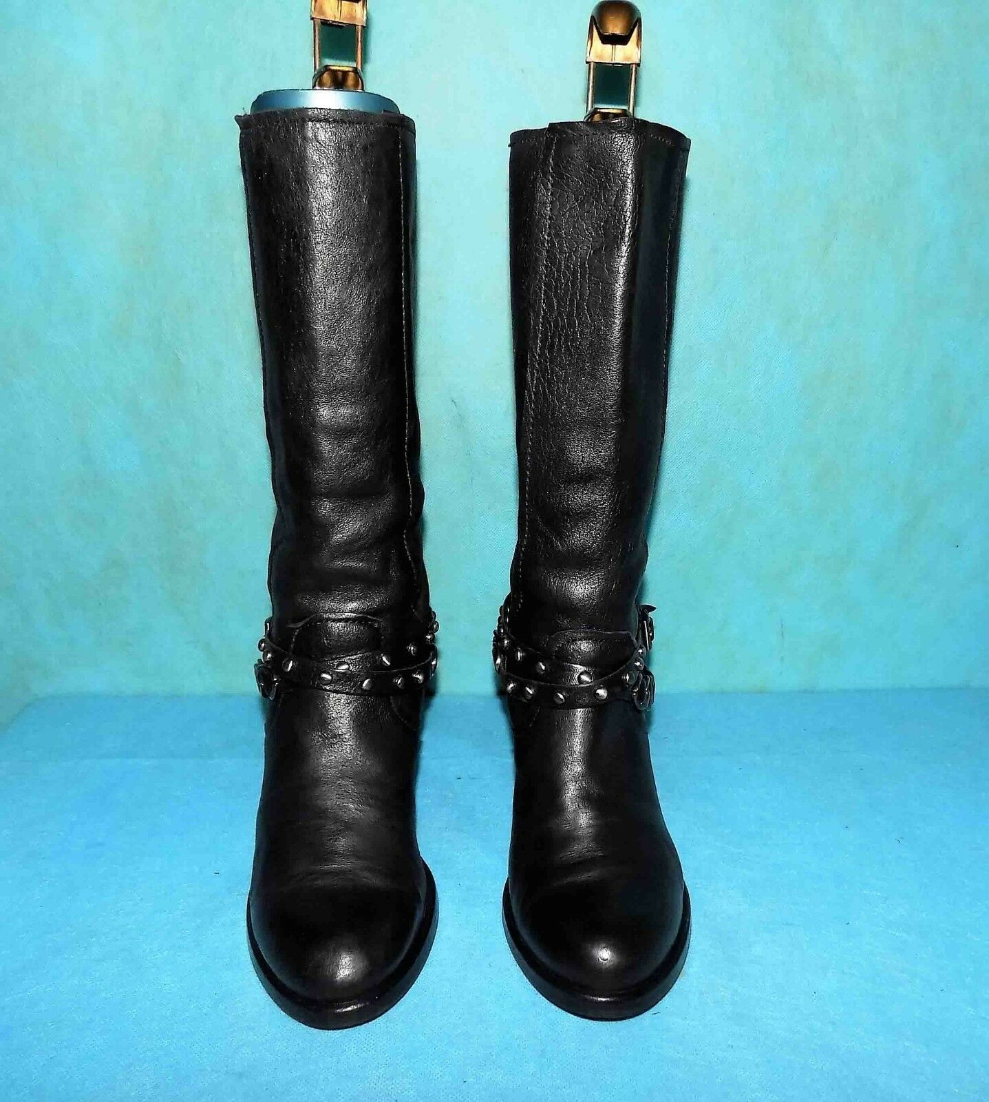Boots Boots Boots CAFE black black leather p 37 fr very good condition 067e03
