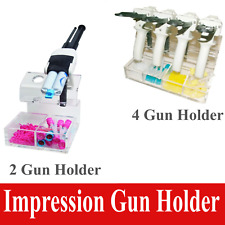 Acrylic Impression Gun Holder And Mixing Tips Organizer Holds 6 Impression Guns