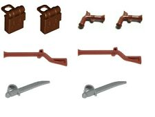 LEGO 8 X Accessories for Imperial Soldier Pirate Minifigs Backpacks Weapons NEW