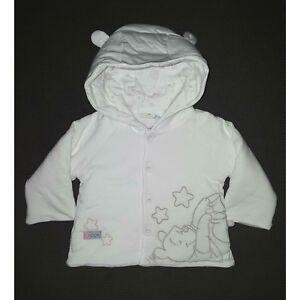 Détails sur DISNEY BABY manteau blouson bébé WINNIE THE POOH blanc taille 1 3 ou 3 6 mois
