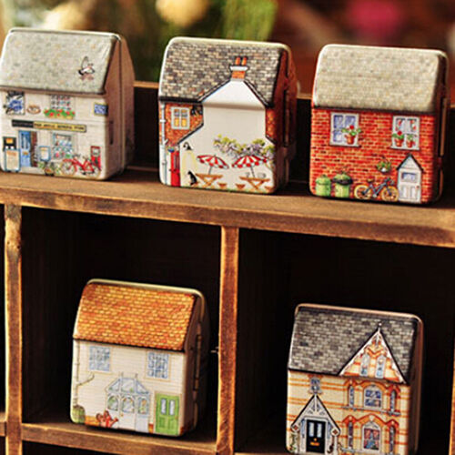 Eyeful Vintage Little House Tinplate Storage Tin Box Coin Bag Jewelry Box